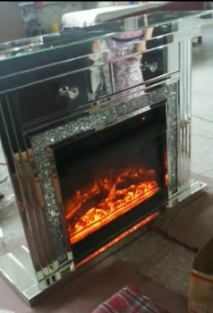 Diamond Crush Sparkle Monica Mirrored 2 draw fire surround with  electric fire  - special offer pre order price
