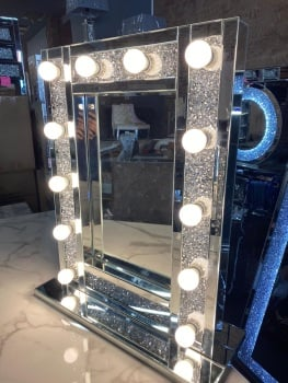 * Diamond Crush sparkle  Hollywood Mirror  80cm x 60cm Special offer SOLD OUT
