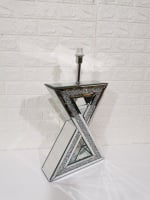 *Diamond Crush Crystal Sparkle Mirrored X Table Lamp in stock