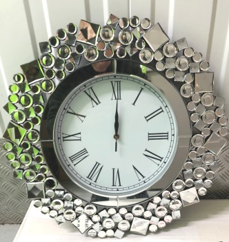 Jewel Crystal Wall Clock 52 dia In stock