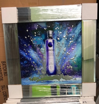 ** Ciroc Vodka Glitter Art Mirrored Frame ** 55cm x 55cm  in stock for a quick delivery