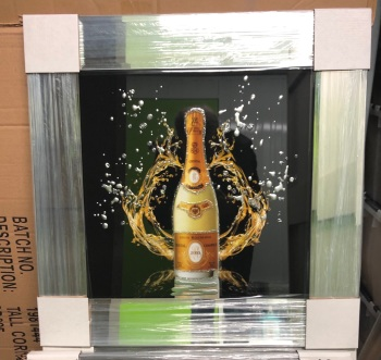** Cristal Champagne Glitter Art Mirrored Frame ** 57cm x 57cm in stock for a quick delivery
