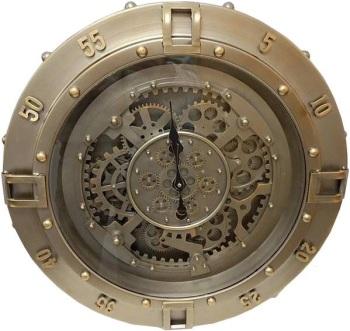 Industrial Silver Skeleton Wall Clock - 60cm