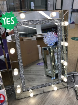 * Diamond Crush sparkle  Hollywood Mirror with bluetooth speaker   120cm x 80cm  Special offer SOLD OUT