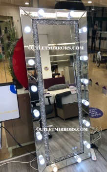 * Diamond Crush sparkle  Hollywood Mirror  with bluetooth speaker  180cm x 70cm  Special offer SOLD OUT until APRIL