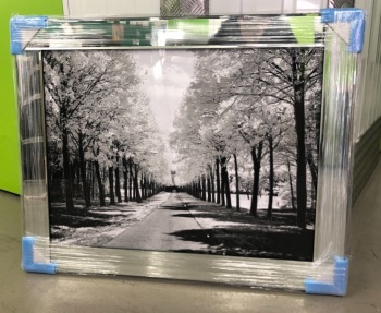 "Mirror framed art print "" Winter wonderland"" landscape in stock"