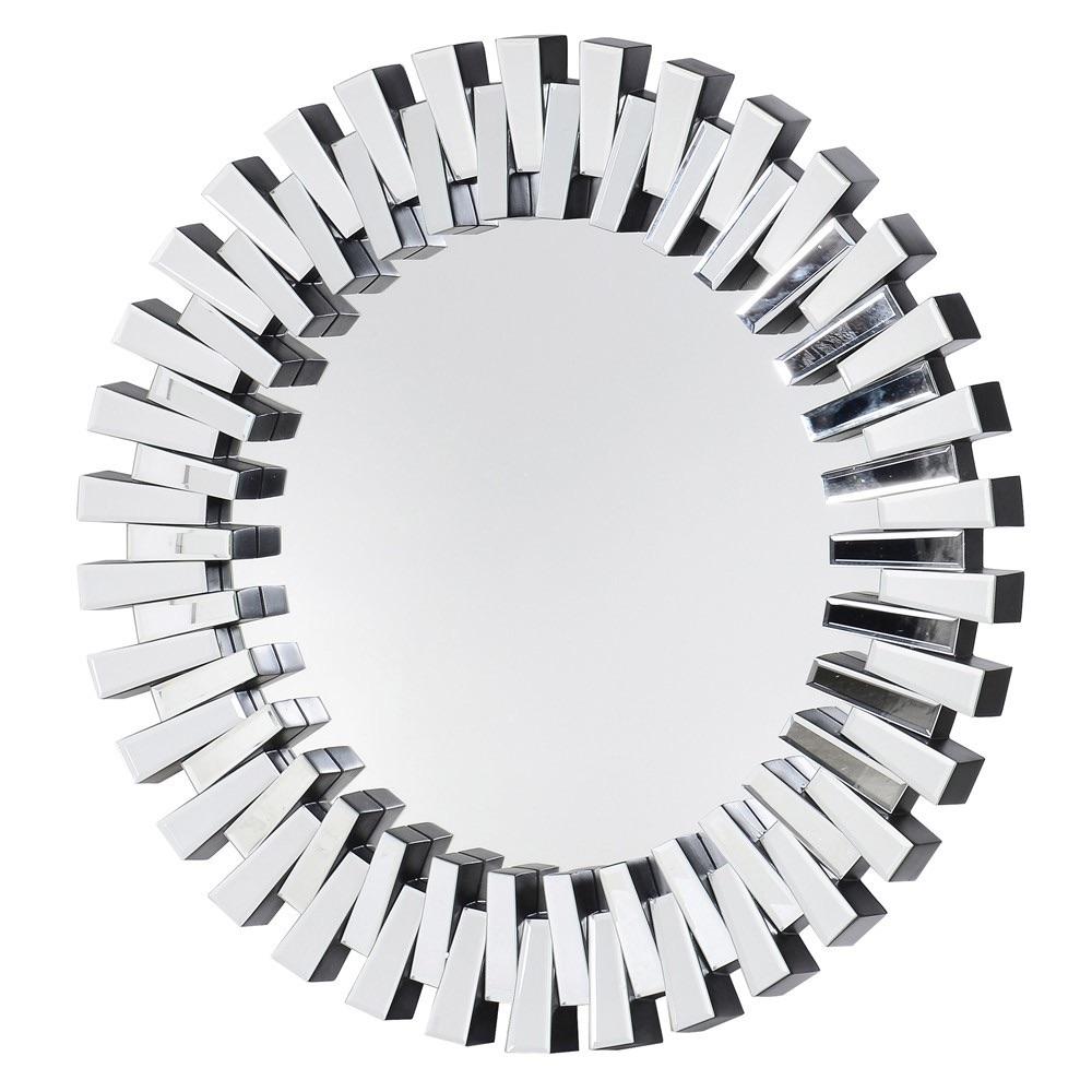 Zip Round Bevelled wall Mirror 100 dia