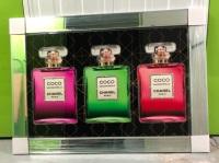 """Silver framed Sparkle Glitter Art """"chanel Perfume Multi Colour Bottles"""" in stock"""