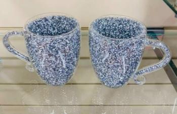 """ New Diamond Crush Drinks Mugs  Large - item in stock set of 4"