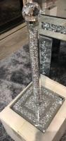 """ New Diamond Crush Sparkle Kitchen Roll Holder 42cm high - in stock"