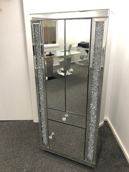 * New Diamond Crush Sparkle Crystal Mirrored 2 Door Unit - item in stock