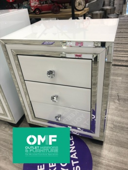 Atlanta  White Mirrored 3 Draw chest- SPECIAL OFFER PRE ORDER PRICE sold out until end of MAY / JUNE