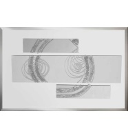 Abstract Silver Mirrored Wall Art Panels 2 sizes