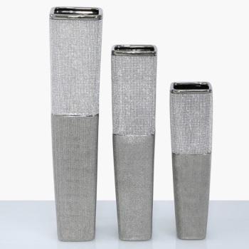 Sparkle Silver vase large 60cm high