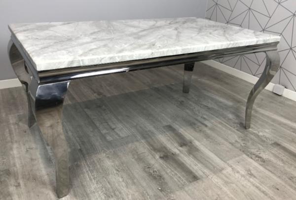 Elise Grey Marble Rectangular Dining Table 1 6m
