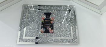 """ New Diamond Crush Chopping Board Coco Chanel Black"