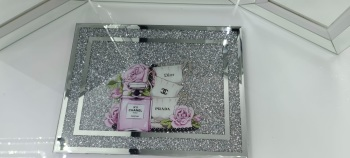 """ New Diamond Crush Chopping Board Coco Chanel No 5 Pink"