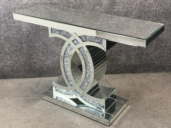 "*Diamond Crush crystal Sparkle ""CC"" Console Table large 120cm"