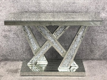 *Diamond Crush crystal Sparkle Shards Console Table
