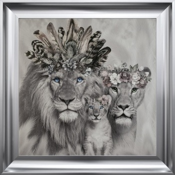 # Lion King , Queen & Cub in a Choice of Frame colours & 4 size options