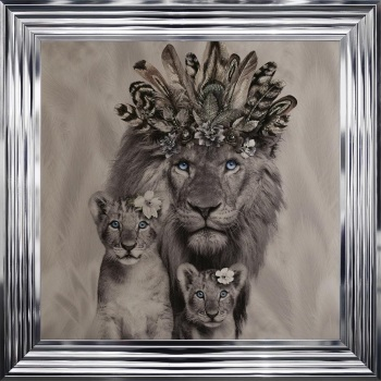 # Lion King & 2 Cubs in a Choice of Frame colours & 4 size options