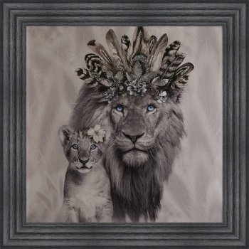 # Lion King & Cub in a Choice of Frame colours & 4 size options