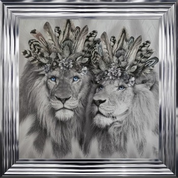 # Lion King & Lion Queen in a Choice of Frame colours & 4 size options