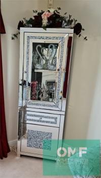 * New Diamond Crush  Display cabinet 6 ft high in stock