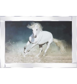 "Mirror framed art ""Wild Horse"" 100cm x 60cm"