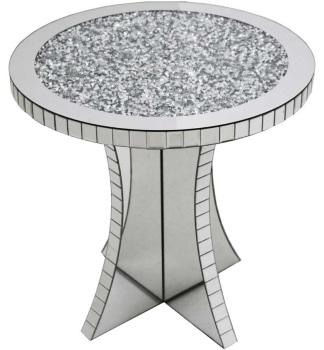* New Diamond Crush Crystal Sparkle Round Lamp Table
