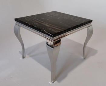 Marble Dining Table in Black 90cm x 90cm