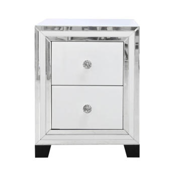 Atlanta  White Mirrored 2 Draw Chest special offer price -in  stock