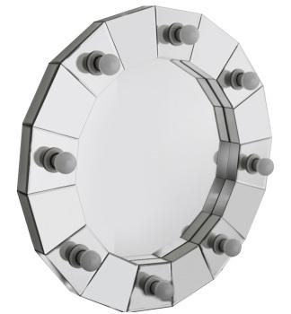 Silver Wall Hung Round Hollywood Mirror 77cm x 77cm