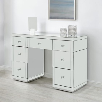 * Monica Venetian Mirrored 7 Draw Dressing Table - Stock due Sept 15th