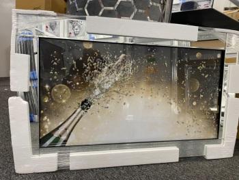 "Mirror framed art print ""Champagne Celebration""  100cm x 60cm in stock"
