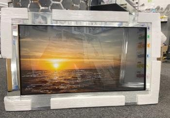 Mirror framed art print Sunset 100cm x 60cm in stock