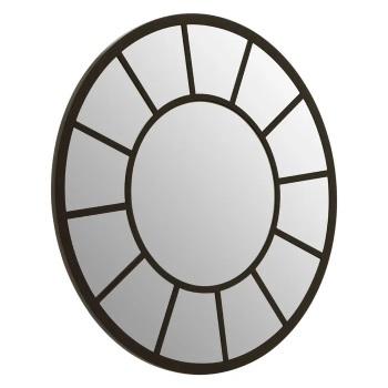 Round Black Window Mirror 60cm x 60cm