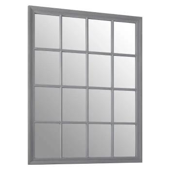 Rectangular Grey painted finish Window Mirror 130cm x 100cm