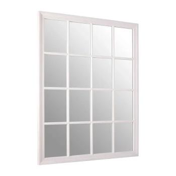 Rectangular White painted finish Window Mirror 130cm x 100cm