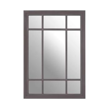 Rectangular Grey painted finish Window Mirror 100cm x 70cm