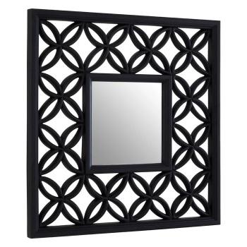 Black Lattice Window Mirror 88cm x 88cm