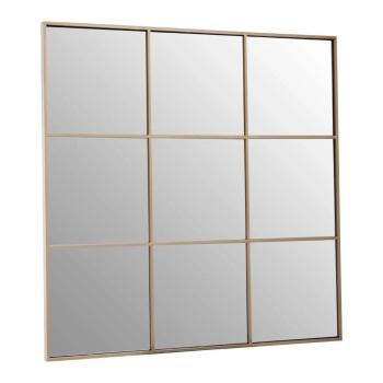 Gold  framed  Window Mirror 100cm x 100cm