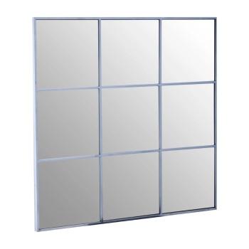 Silver Grey framed Window Mirror 100cm x 100cm