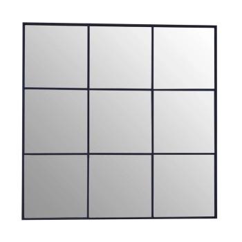 Black framed Window Mirror 100cm x 100cm