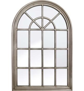 Curved Arch Window Antique SIlver Wall Mirror 120cm x 80cm