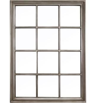 Rectangular Window Antique SIlver Wall Mirror 130cm x 95cm