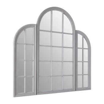 Arched Window Grey  Wall Mirror 150cm x 80cm