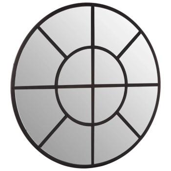 Round Black Window Mirror 90cm x 90cm