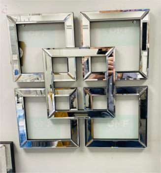 Geometric Squares Wall Mirror 40cm x 40cm (A)