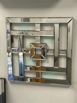 Geometric Lines Wall Mirror 40cm x 40cm (B)
